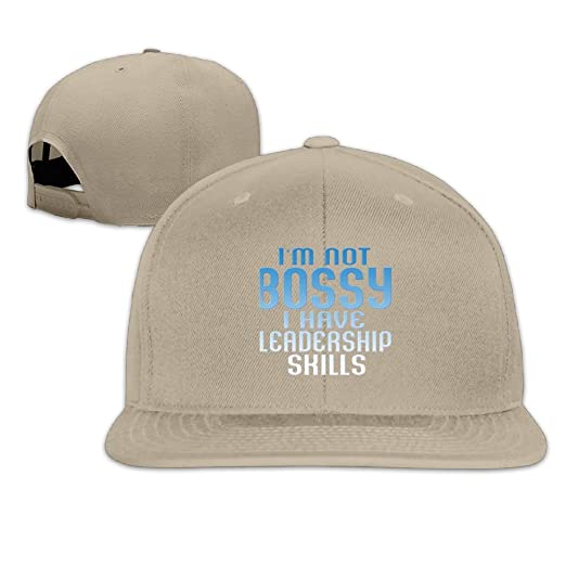 4d46ff6e6a38fc Amazon.com: I'm Not Bossy I Have Leadership Skills 1 Men Women Sport Hat  Custom Cap Baseball Mesh Hat Design HatNatural: Clothing