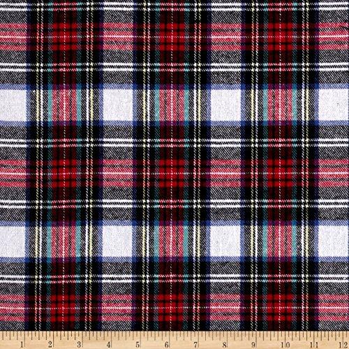 Newcastle Fabrics Yarn Dyed Flannel Dallas Plaid Multi Fabric by The Yard, Multicolor