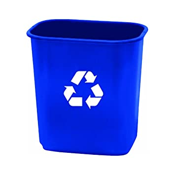 United Solutions EcoSense WB0070 Blue Thirteen Quart Recycling Indoor  Wastebasket   13QT Recycling Trash Can/