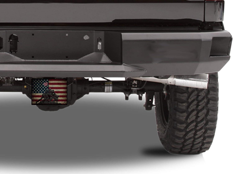 Rogue River Tactical USA Flag Iwo Jima Trailer Hitch Cover Plug US Patriotic Veteran WW2 Memorial
