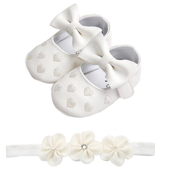 Fossen Zapatos de Bebe Fossen Recién Nacido Niñas Piel Artificial ...