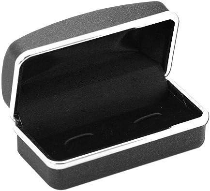tumundo Caja Estuche de Regalo para Gemelos Pendiente Joyas Piercings Plugs Negro: Amazon.es: Joyería