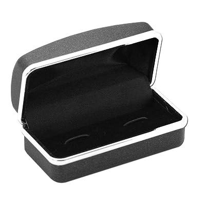 Caja Estuche de regalo para gemelos pendiente joyas piercings plugs negro