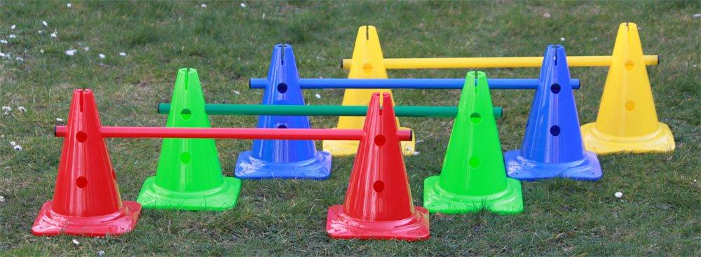 spesso Set di ostacoli / coni multiuso, 12 pezzi, 4 colori, h: 30 cm, l  NT11
