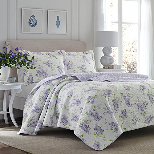 (Laura Ashley Keighley Lilac Quilt Set Full/Queen)