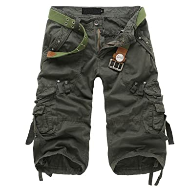 bf1a983f087e MUST WAY Classic Men's Casual Loose Multi-Pocket Cargo Shorts for Daily  Work: Amazon.co.uk: Clothing