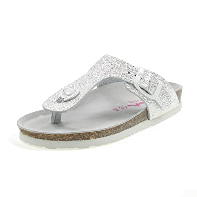 BIO NATURA Flip Flops BISTROT Modell Birk Made in Italy 22B1010A Silber Große: 29 JFfd0