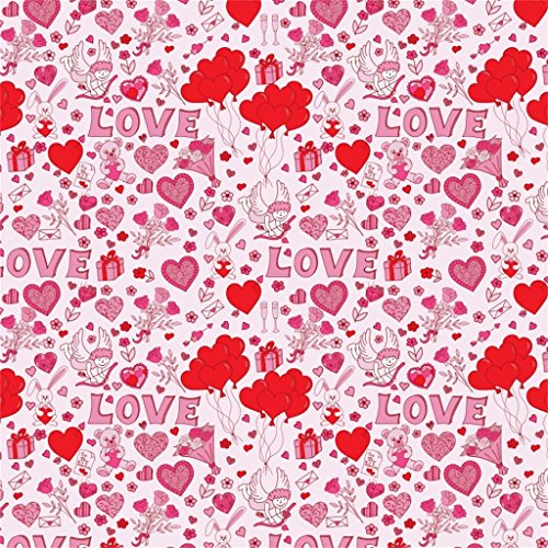(AOFOTO 5x5ft Happy Valentine's Day Background Photography Cupid Arrow Backdrop Hand Drawn Love Heart Balloon Sweet Gift February 14 Party Decor Lovers Girlfriend Portrait Photo Studio Props)