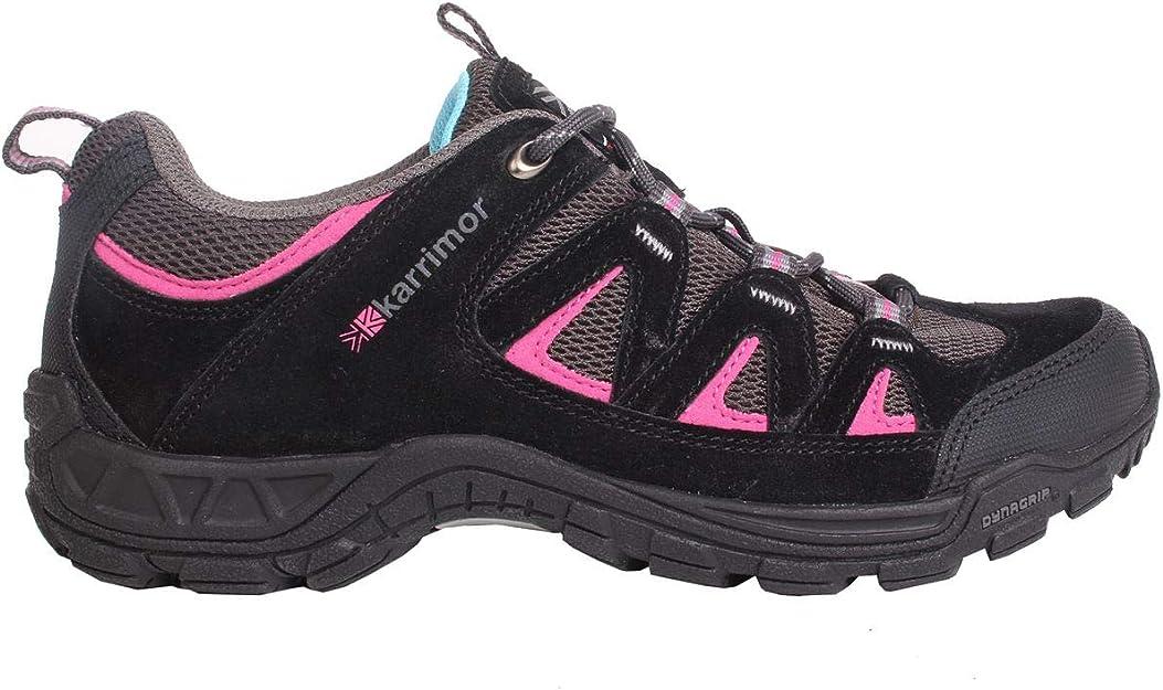 Karrimor Kids Summit Junior Walking Shoes Non Waterproof Lace Up Breathable Mesh Black/Pink UK: Amazon.co.uk: Shoes & Bags