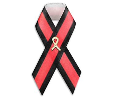 7924421faf1b Fundraising For A Cause 50 Firefighter Support Thin Red Line Satin Ribbon  Pins (Wholesale Pack