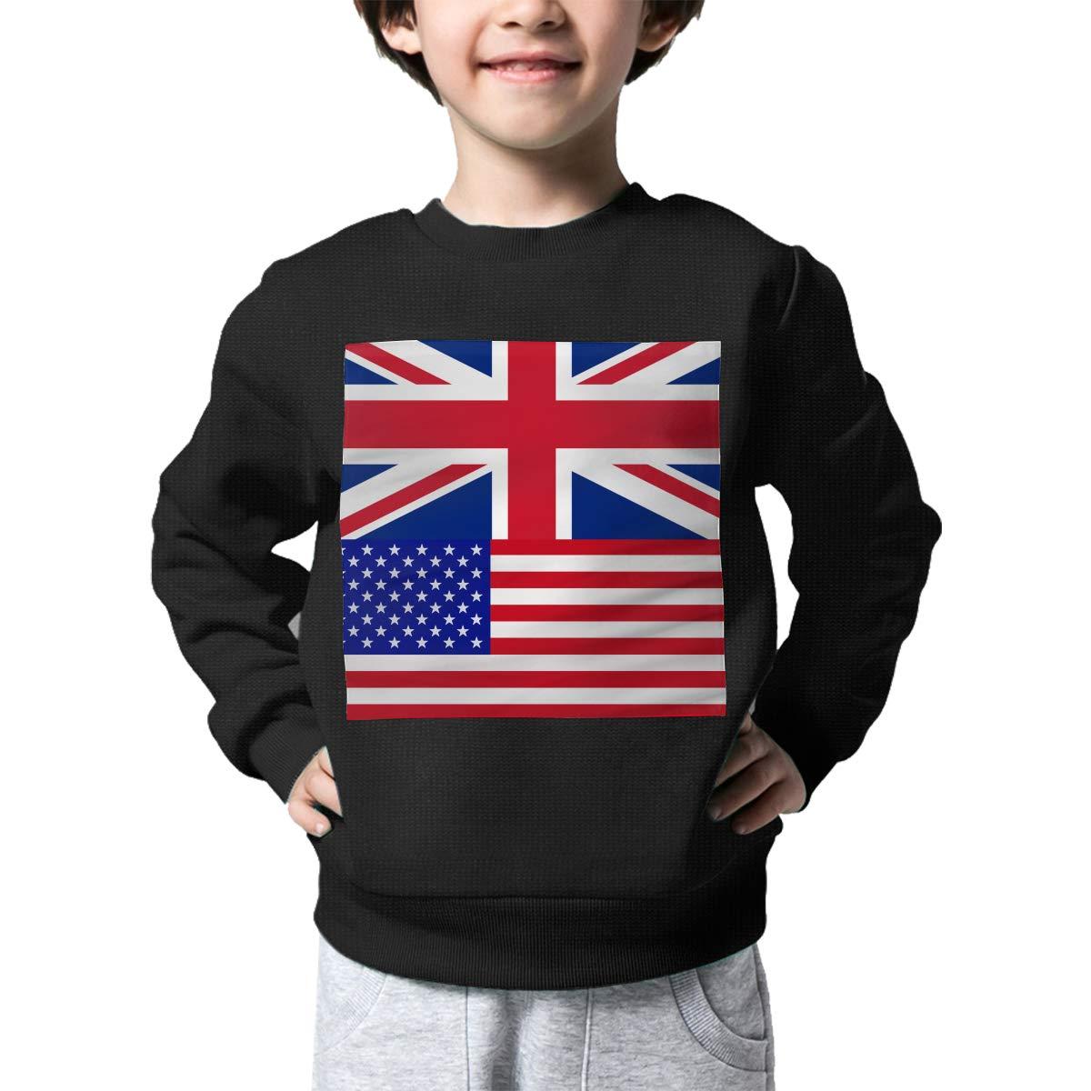 NJKM5MJ Boys Girls British-American Proud Lovely Sweaters Soft Warm Kids Sweater