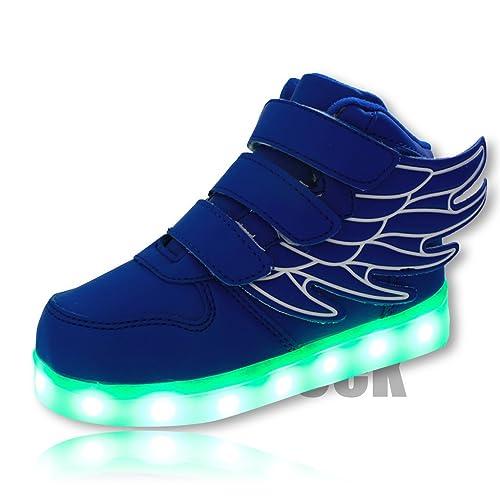 DoGeek Scarpe LED Bambini Scarpe Che Illuminano Scarpe Tennis Luminose Scarpa  Bambino Scarpe da Ginnastica Donna la Sportiva Scarpe con Luci Sneakers  ... d6819d82334