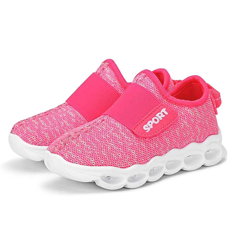 Children Boys Girls LED Slip-On Sneakers Pink