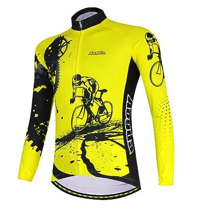 Aogda Long Sleeve Cycling Clothing Bike Shirts Men Winter Thermal Cycling  Jerseys Jacket Coat (Z 7083e5555