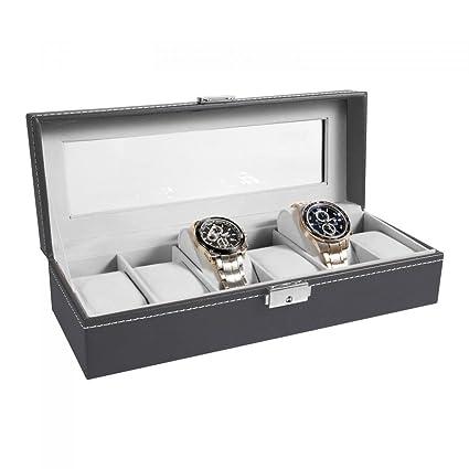 Ohuhu® Expositor/Caja/estuche de piel con reloj/cubierta de la reloj