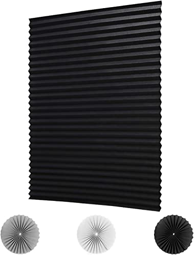 LUCKUP 6 PackCordless Blackout Pleated Fabric Shade