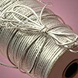 White and Silver Rat-tail Cord, 2MM X 200 Yards