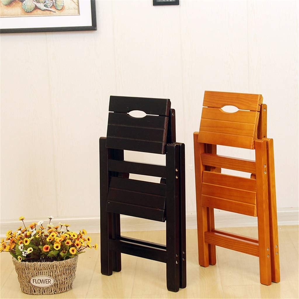 50 cm Stufen 2 Stufen Leiter Hocker leicht zu bewegen Faltbarer Holz-Tritthocker hoher Qualit/ät tragbares Design