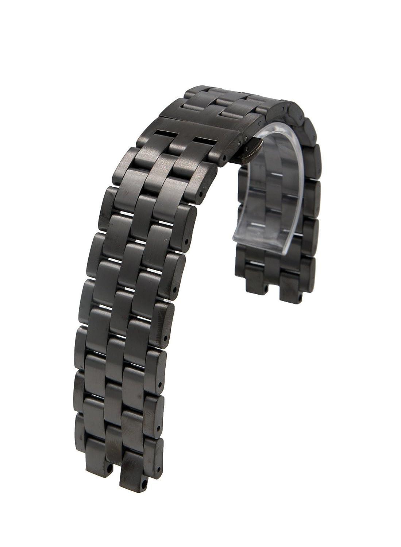 Acero Inoxidable cadena Correa de reloj sólido pulsera para ...