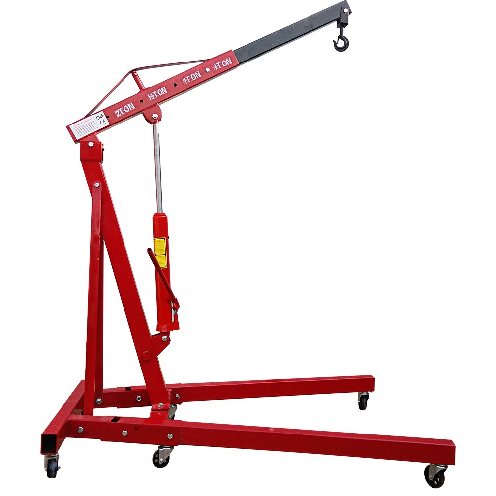 Strongway Hydraulic Engine Hoist with Load Leveler