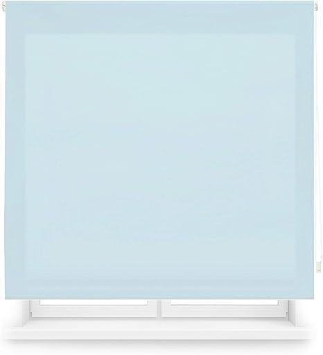 Blindecor Ara - Estor enrollable translúcido liso, Azul Celeste, 100 x 175 cm (ancho x alto): Amazon.es: Hogar