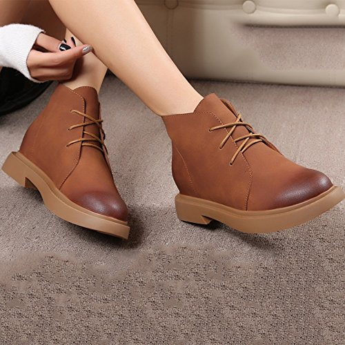sexy Women's Boots Thickening Retro Winter Black Brown Shoes Martin Boots 18~40 Years Old (Color : Black, Size : EU39/UK6/CN39) Brown