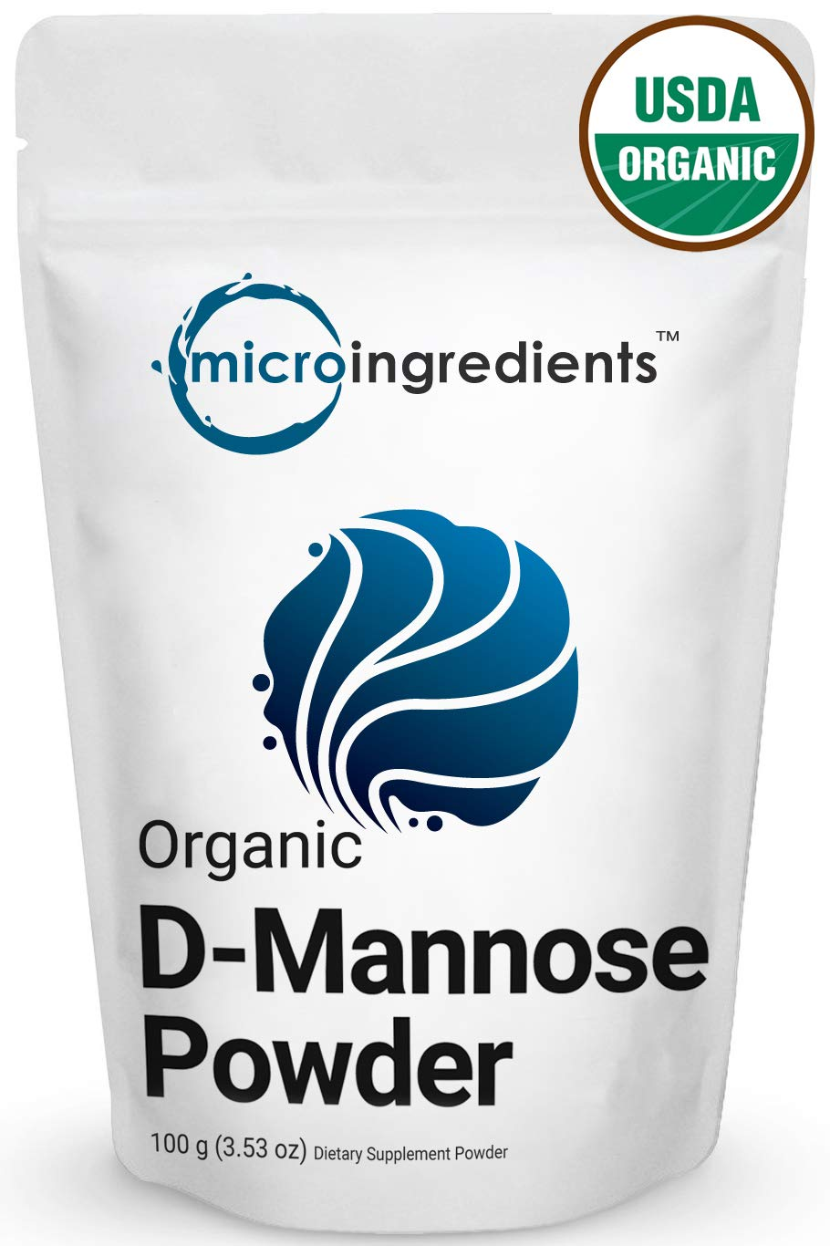 Organic D-Mannose Powder 100 Grams, Maximum Strength to Powerfully Support Urinary Tract Cleanse and Bladder Health for Both Men and Women, No GMOs and Vegan Friendly by Micro Ingredients