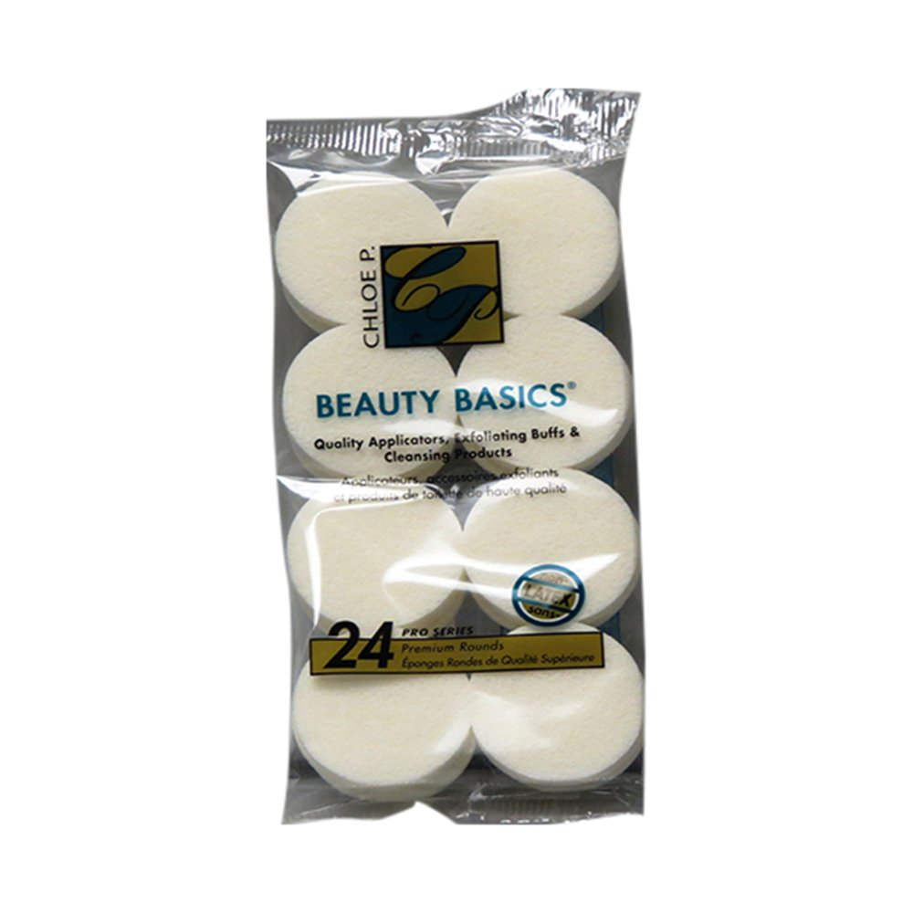 Beauty Basics Cosmetic Round Sponges (24 In 1 Pack) 062436