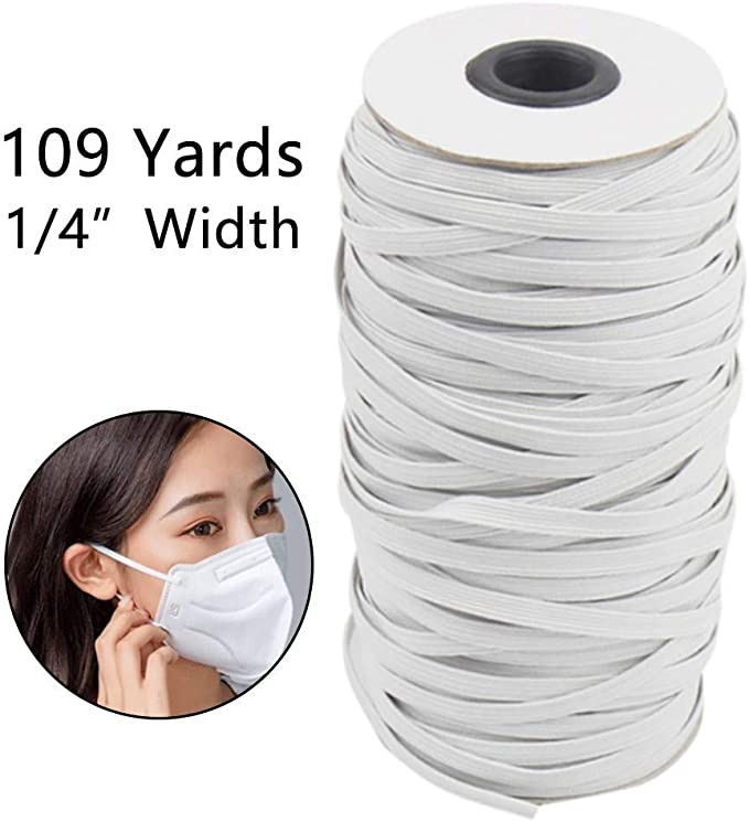 DIY Elastic Band Ear Rope Knitting Band with Adjustable Button Sewing 10//100pcs