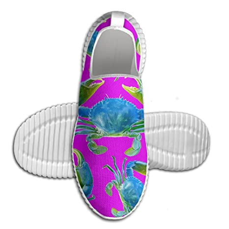Blue Crab Men Slip-On Shoes Fashion Lightweight Running Loafers