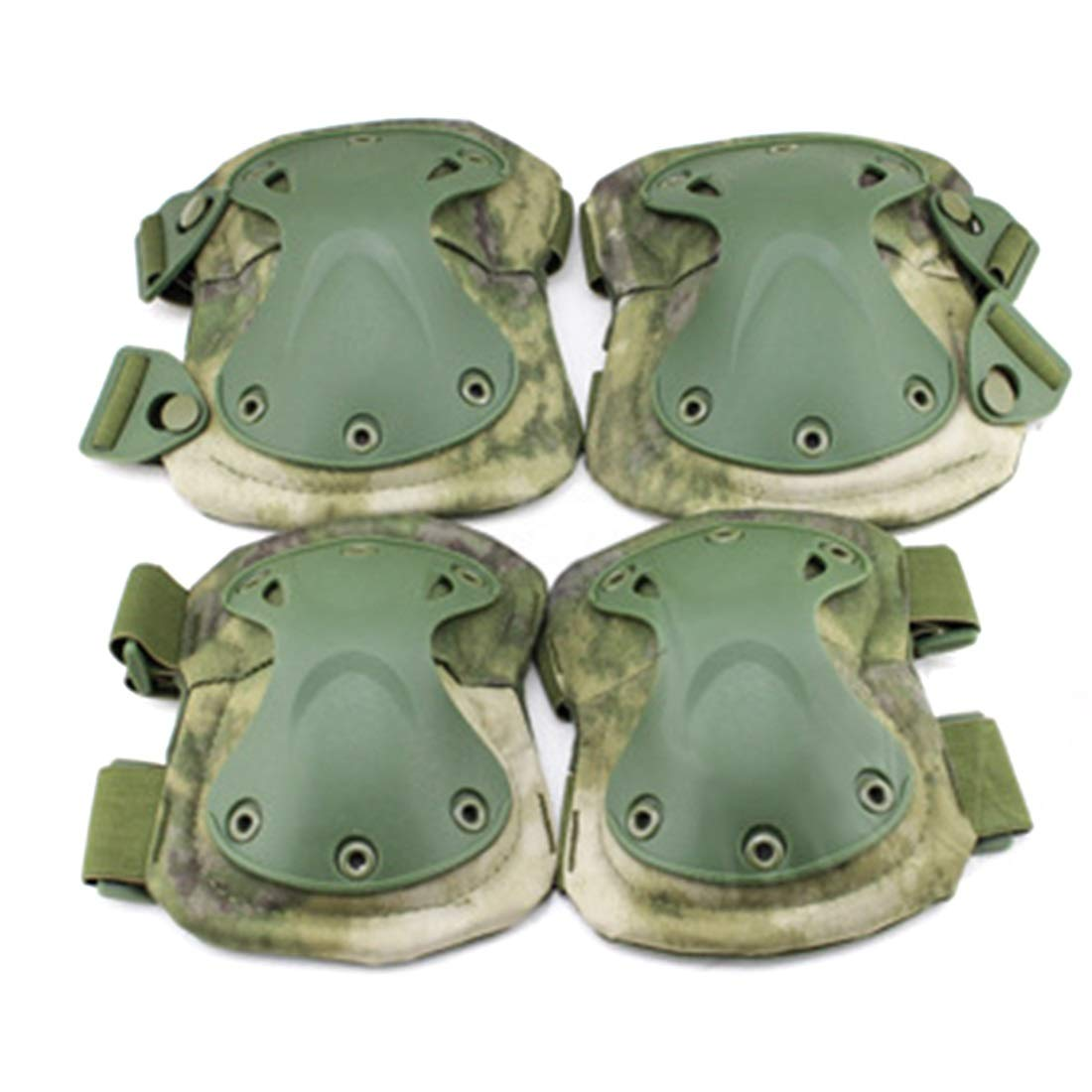 AIYAMAYA EVA Protective Gear Outdoor Riding Hiking Knee Pads Elbow Suit Field Tactical Equipment Knee Pads Elbow Suit (Style : A-TACS-FG (PA-03-FG))