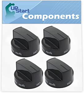 4-Pack W10339442 Range Knob Replacement for Whirlpool WFG510S0AW1 Range - Compatible with WPW10339442 Ranges/Stove/Oven Knob - UpStart Components Brand