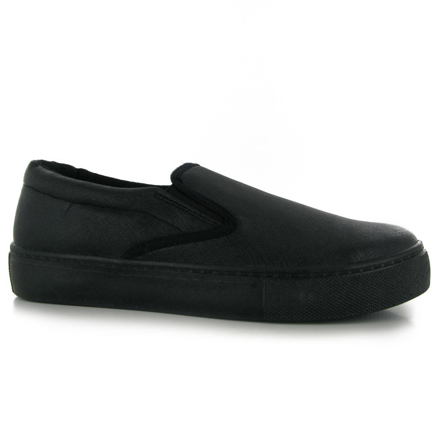 488e8691a Fabric Hustle Slip On Trainers Womens Black/Black (UK4) (EU37):  Amazon.co.uk: Sports & Outdoors