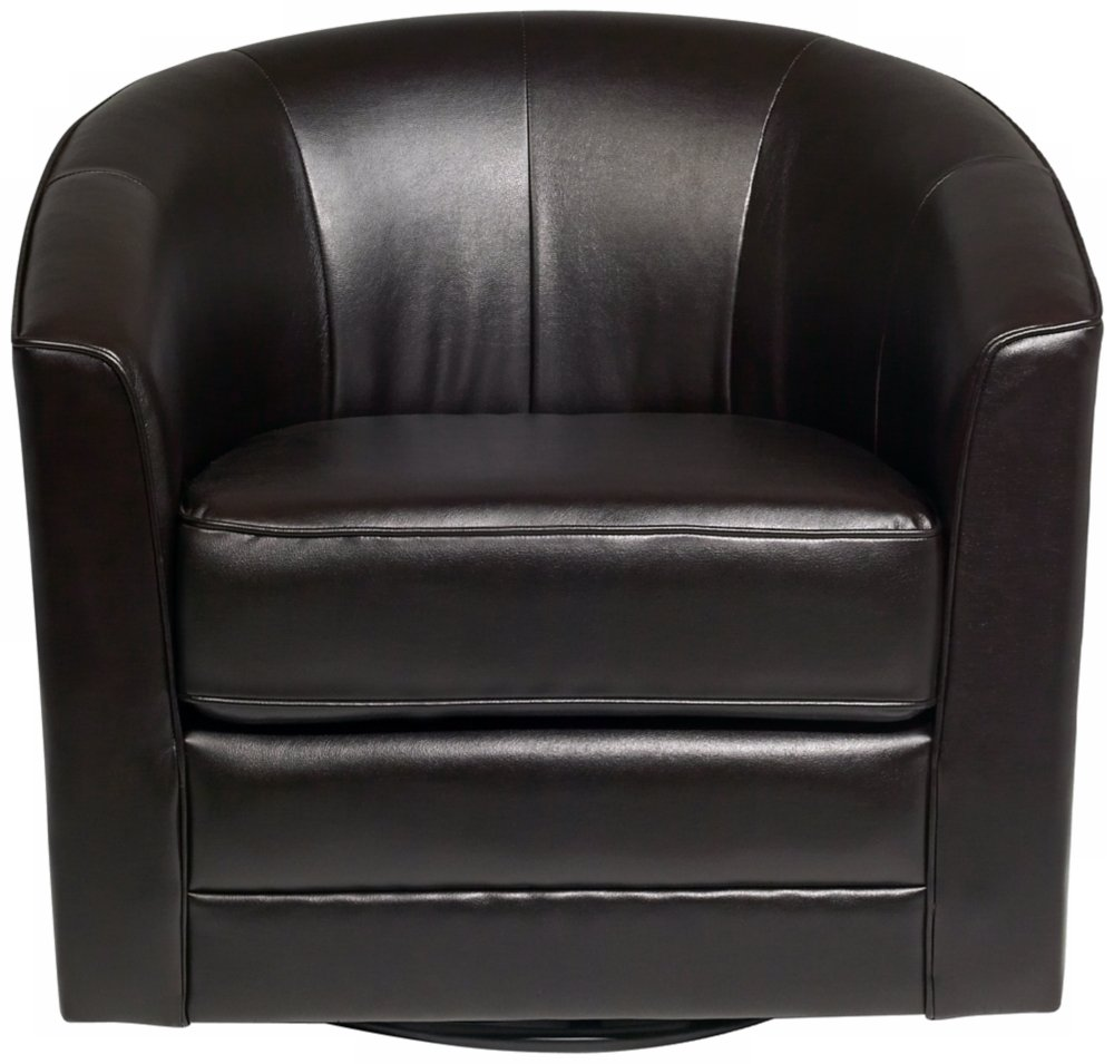 amazoncom keller espresso bonded leather swivel club chair kitchen u0026 dining