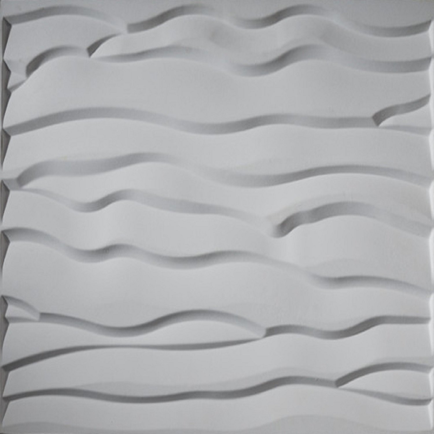 Upscale Designs 02116 32 sq. ft. 3D Glue-On Wall/Ceiling/Wainscoting Panels, Dunes