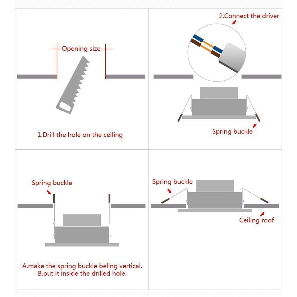 Galygg 3 Inch Led Downlight Retrofit Kit 280lm 4w 25w Equivalent Wiring Downlights Diagram 240v Recessed Lighting Trim Color Changing 3000k To 4500k 6500k Light Fixture
