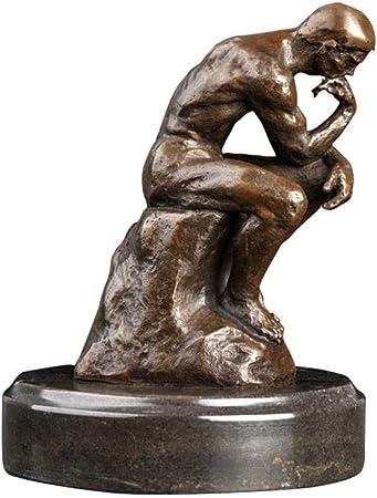 QIBAJIU Estatuas para Jardín Regalo Estatua La Estatua del Pensador De Bronce Antigua Escultura Famosa Figura para Decoración del Hogar Clásico: Amazon.es: Hogar