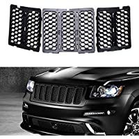 FMtoppeak Black Front Honeycomb Matte Mesh Grille Inserts Cover For 2014-2016 Jeep Grand Cherokee