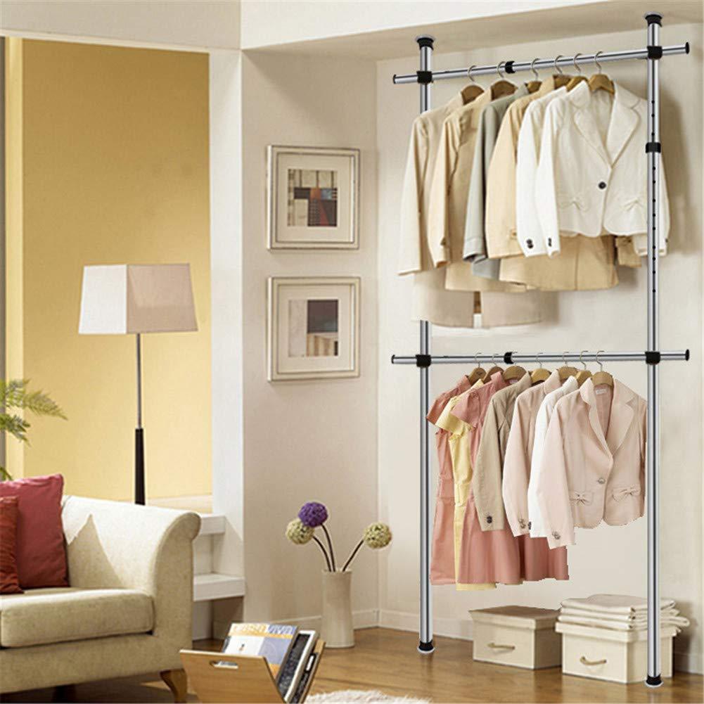 家の調節可能な掛かる衣服の棚のオルガナイザー、棚のハンガーは各横棒60kg(132LB)を握ります B07RQ6JKM6