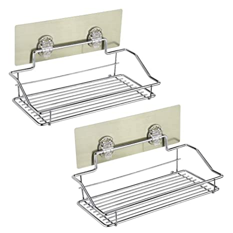 Amazon.com: EBTOOLS - Estantería de baño con 2 estantes de ...