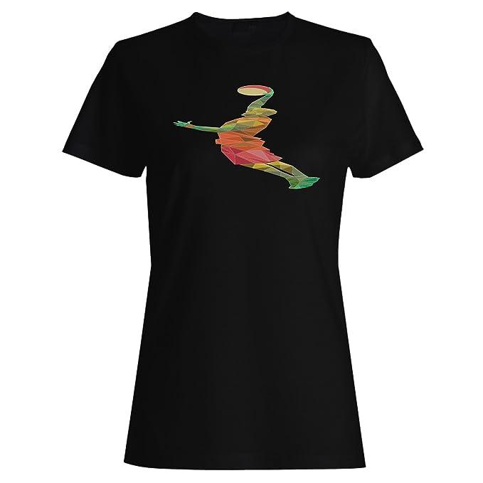 Poligonal basketbal jugador triángulo origami camiseta de las mujeres g335f: Amazon.es: Ropa y accesorios