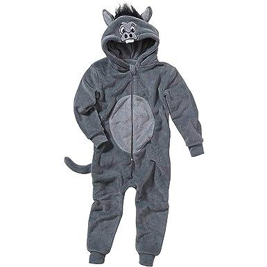 7738acb2d4d25 Pyjama Combinaison Garçon Animal Crazy Polaire Douillet Ultradoux Âne -  Gris - 2 3 Ans