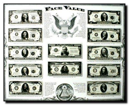Old US Currency Money Dollar Bills Wall Decor Art Print Poster (16x20) - Art Print Poster measures 16x20 inches and is created using high quality paper. The printing process produces a vivid and detailed reproduction. Brand new Poster Published In USA. - wall-art, living-room-decor, living-room - 61qBYcOSzIL -