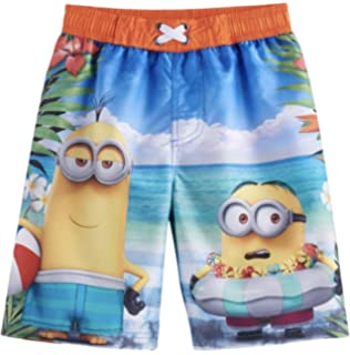 1e020b10f3f31 Amazon.com: Boys Despicable Me Minion Gru's Crew Swimsuit Shorts ...