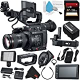 Canon EOS C200 EF Cinema Camera and 24-105mm Lens #2244C002 (International Model) + 256GB SDXC Card + Professional 160 LED Video Light Studio Series + Deluxe Cleaning Kit + MicroFiber Cloth Bundle