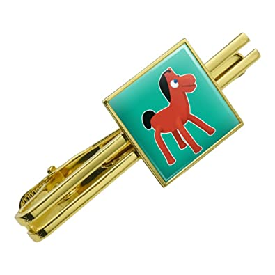 698e17087a88 Amazon.com: GRAPHICS & MORE Pokey Gumby's Horse Pony Pal Friend Square Tie  Bar Clip Clasp Tack Gold Color: Jewelry