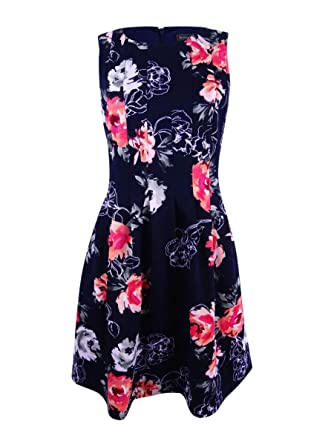 eea8a6544d7f7 Jessica Howard Women's Petite Floral-Print Fit & Flare Dress at Amazon  Women's Clothing store: