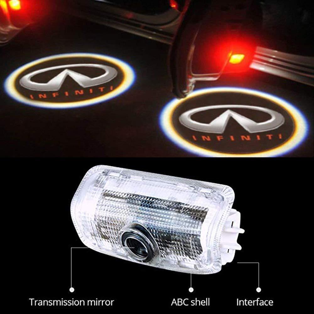 MEHIM 4 Piece Auto Door Logo Projector Car Door Lights Door Step Courtesy Light