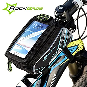 Bici plegable bolsa KRBS ROCKBROS Road cesta bicicleta marca GPS deporte ciclo ciclismo bolsa telefono 15