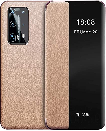 Eudth Huawei P40 Pro Plus Case Flip Cover Smart View Elektronik